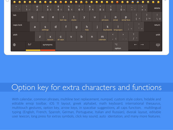 Pro Keyboard - Pc layout for professionals users Screenshots