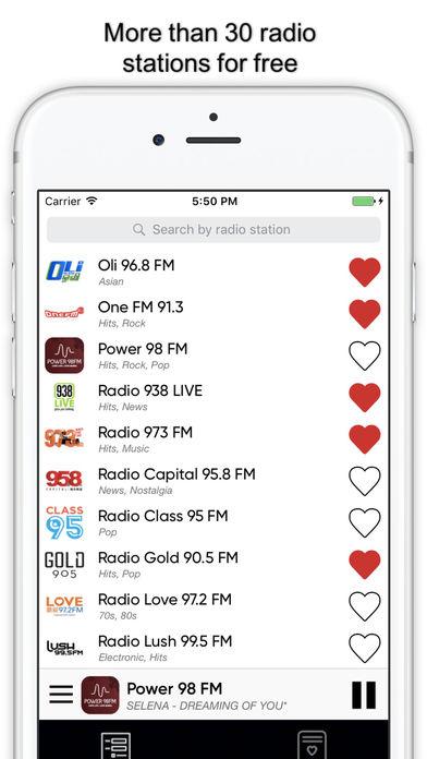 Радио Сингапур : singaporean radios FM Скриншоты3