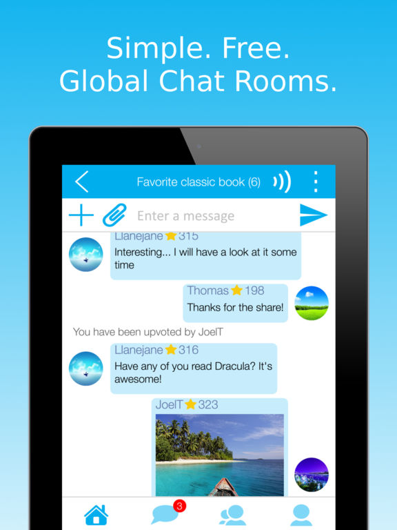 free chat room for iphone a1549