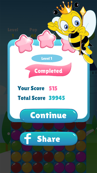 Bee Of King - pop and blast the you bee bubble screenshot 4