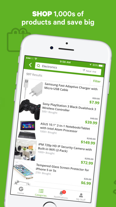 Screenshot for Groupon - Deals, Coupons & Discount Shopping App in United States App Store