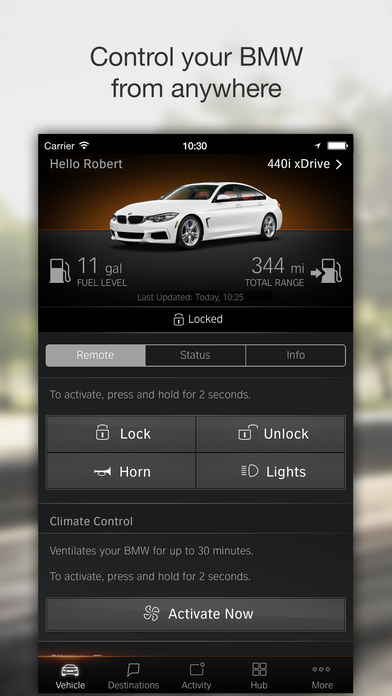BMW Connected North America screenshot 2