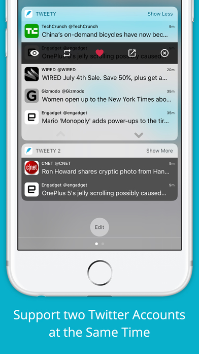Tweety Pro - Show Twitter Timeline on Lock Screen Screenshots