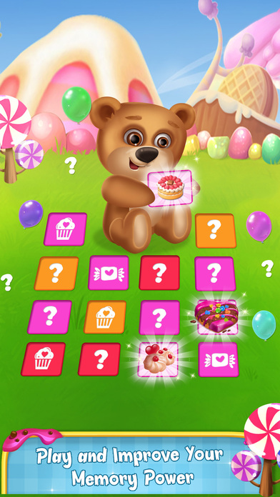 Memory Game : Cake and Candy screenshot 3