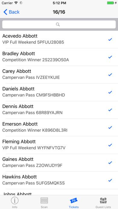 All The Tickets Scanner screenshot