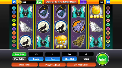 Screenshot 1 Slots — Buffalo Moon Casino Spins