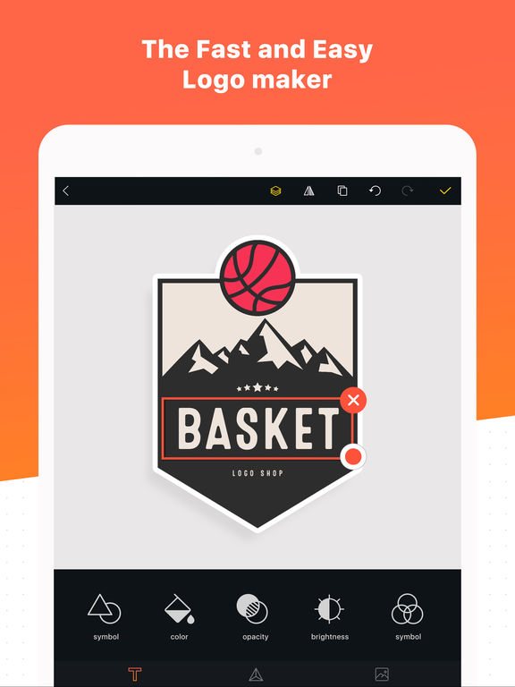 logo maker shop text graphic design creator on the app store