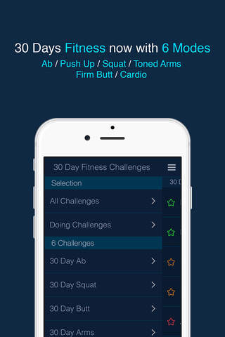 30 Day Fitness Challenge Log screenshot 1