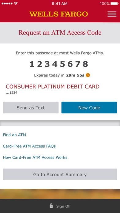 Wells Fargo Mobile screenshot