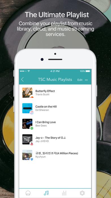 TSC Music: Streaming Playlist & Equalizer Balance Screenshot