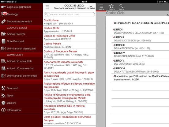 Costituzione e Leggi iPad Screenshot 3