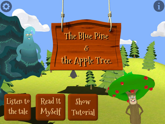 The Blue Pine and the Apple Tree released for iOS: Kids Interactive Book Image