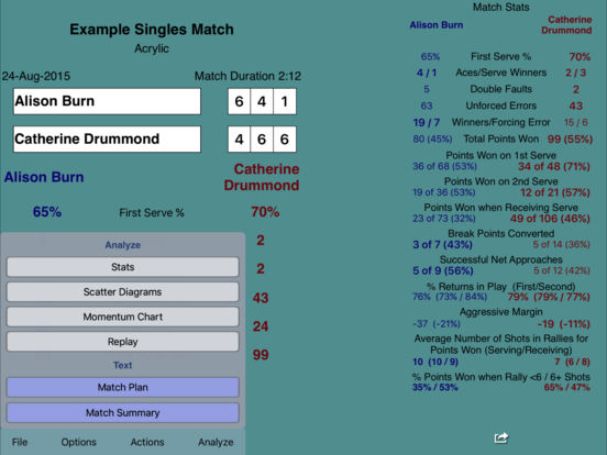 ProTracker Tennis iPad Screenshot 3