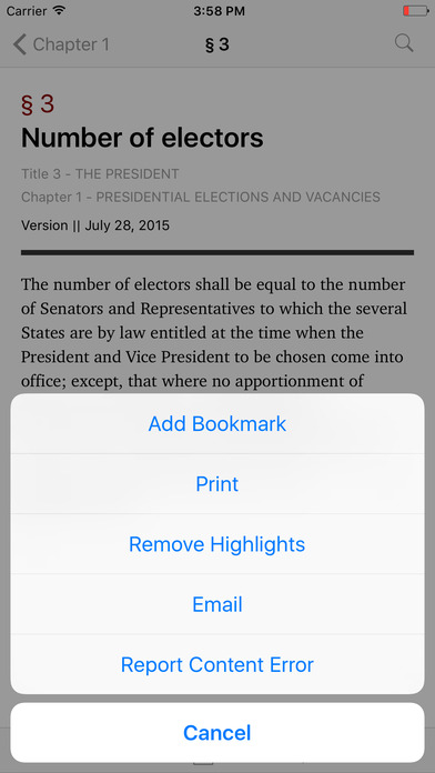 The President (Title 3 United States Code) iPhone Screenshot 3