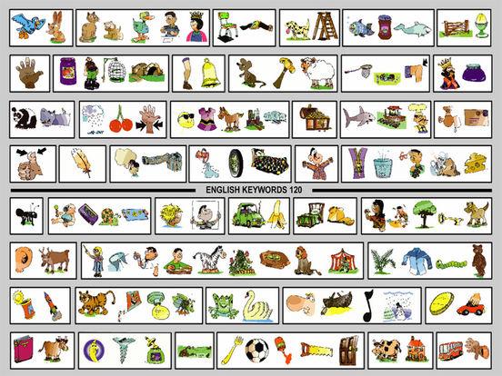 English Keywords 120 iPad Screenshot 1