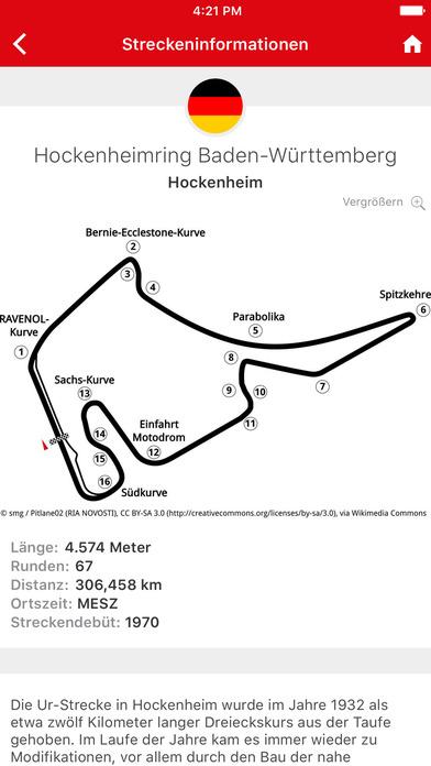 Formel1.de iPhone Screenshot 4