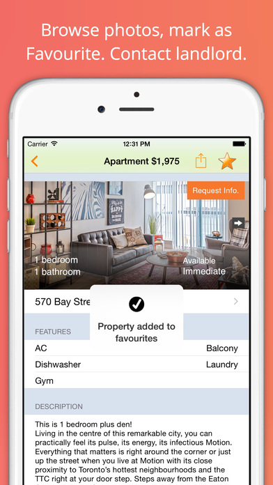 Apartment Rentals Search iPhone Screenshot 3