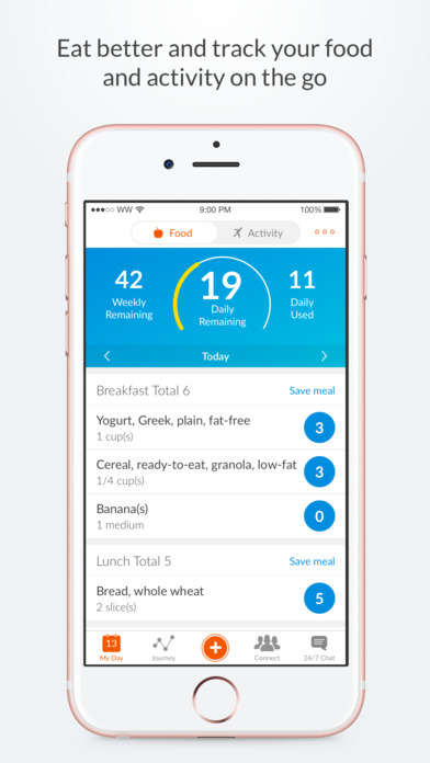 Weight Watchers Mobile iPhone Screenshot 1