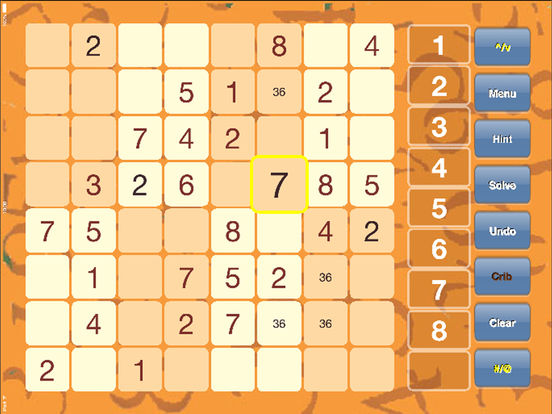 Sudoku mini for iPad iPad Screenshot 1