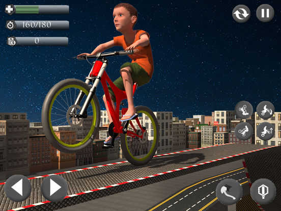 Rooftop Baby Bicycle Stunts screenshot 7