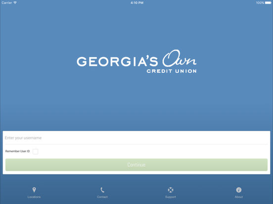 Georgia's Own Credit Union iPad Screenshot 2