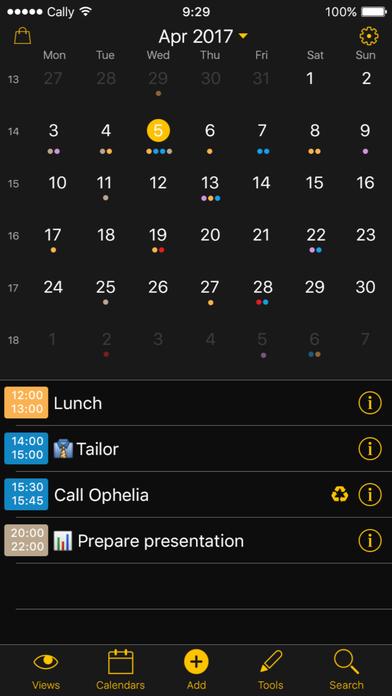 Week Calendar Screenshot