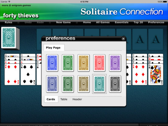 Forty Thieves Suite - Solitaire Connection iPad Screenshot 2