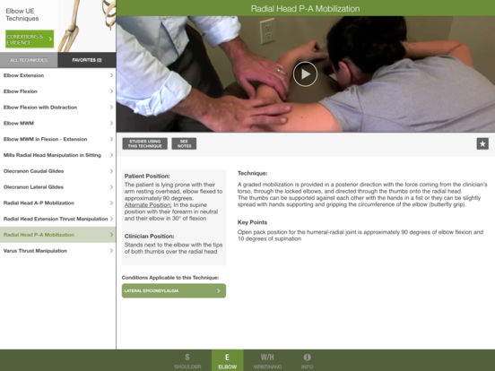 Mobile OMT Upper Extremity iPad Screenshot 2