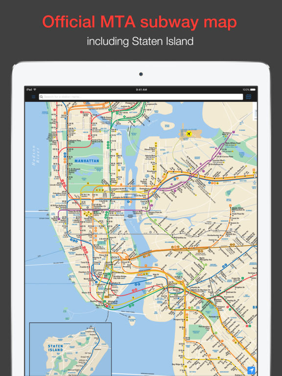 New York Subway MTA map and route planner on the App Store – Manhattan Ny Subway Map