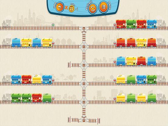 Train Mix логическая головоломка-пасьянс на iPad