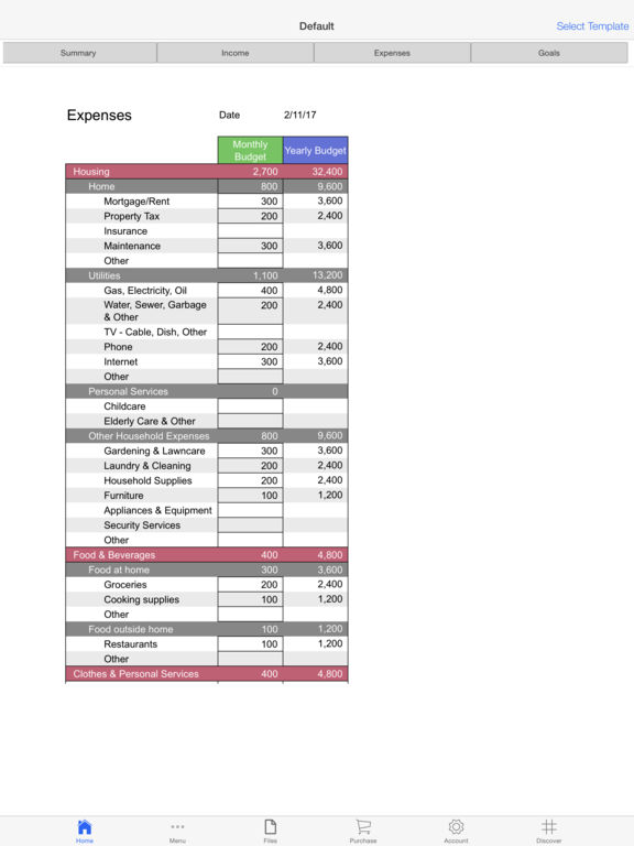 Personal Budget Pro Screenshots