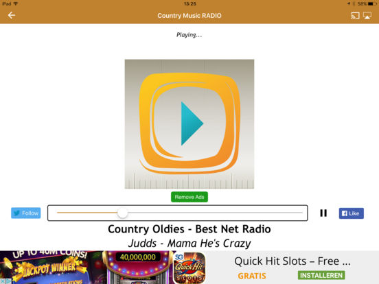 Country Music Radio iPad Screenshot 4