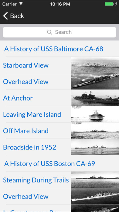 Cruisers of the US Navy iPhone Screenshot 5