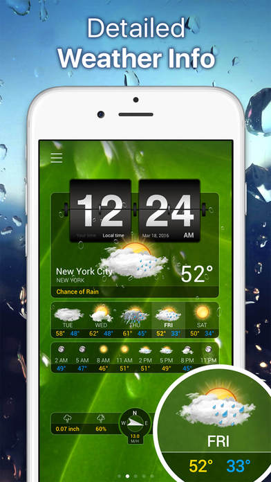 Weather+ Free iPhone Screenshot 2