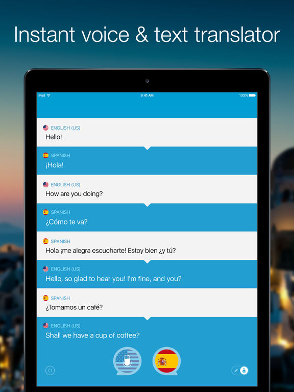 Screenshot #1 for Speak & Translate - Voice and Text Translator