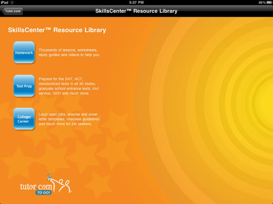 Tutor.com To Go iPad Screenshot 3