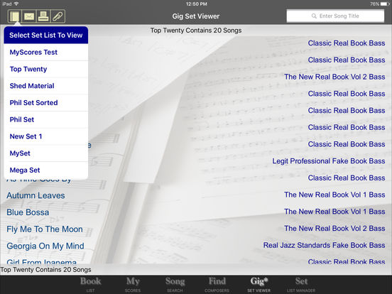 iGigBook sheet music manager iPad Screenshot 4