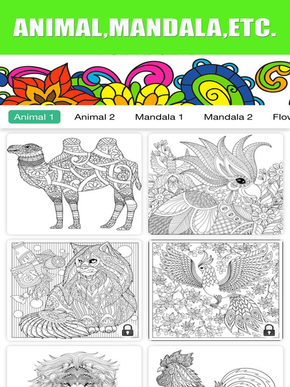 App Shopper Adults Coloring Book Color Therapy For Anti Stress Games