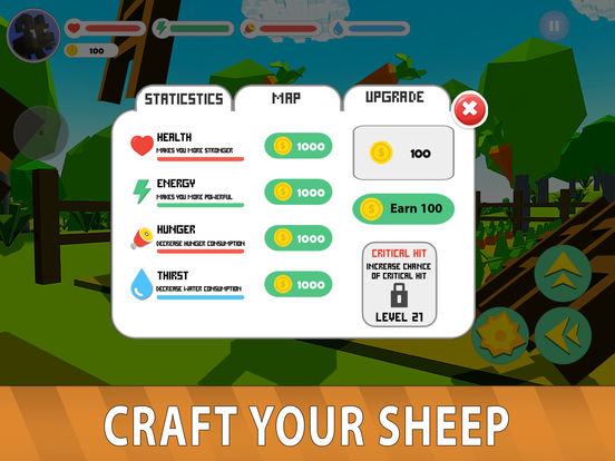 Blocky Sheep Farm 3D Full screenshot 8
