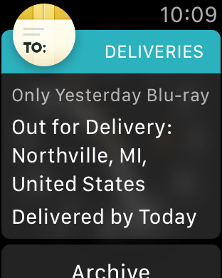 Delivery Status touch, a package tracker iPhone Screenshot 8