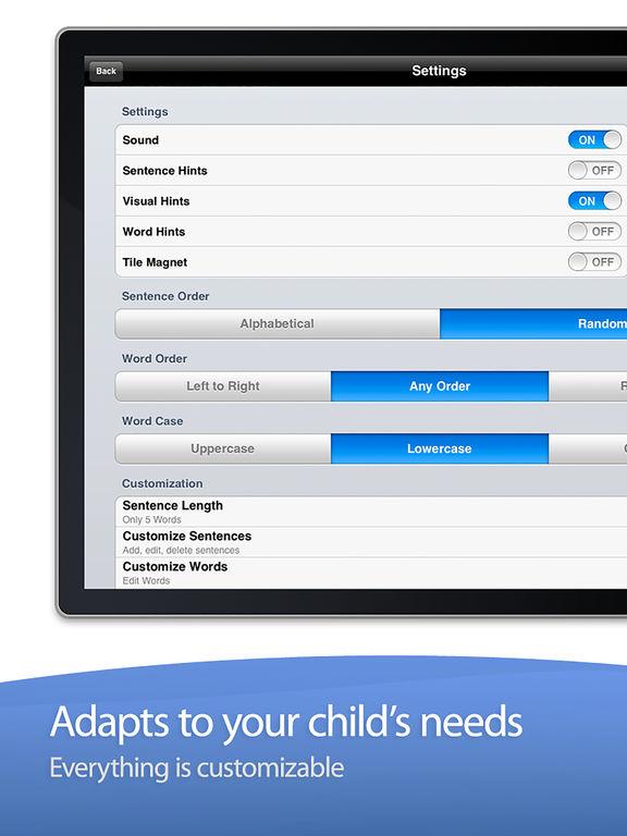 Sentence Maker: Educational Learning Game for Kids Screenshot