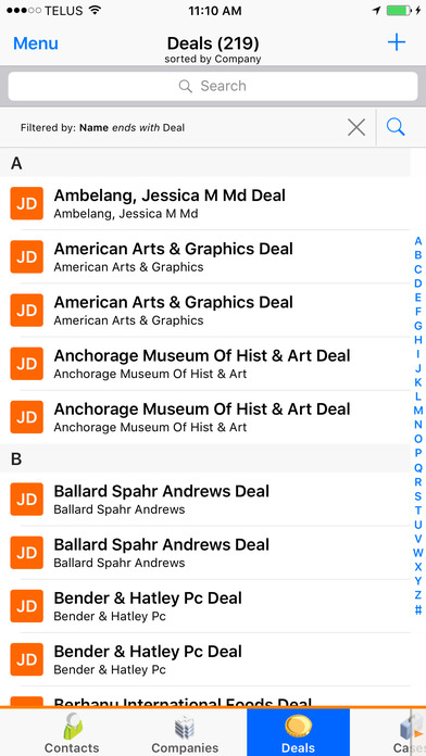 SalesNOW Mobile CRM iPhone Screenshot 5
