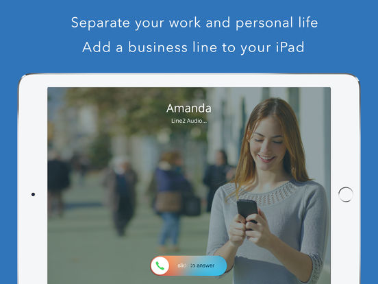 Line2 - A new phone line with calling, texting, and business features. iPad Screenshot 1