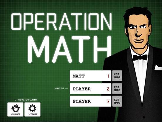 Operation Math Screenshots