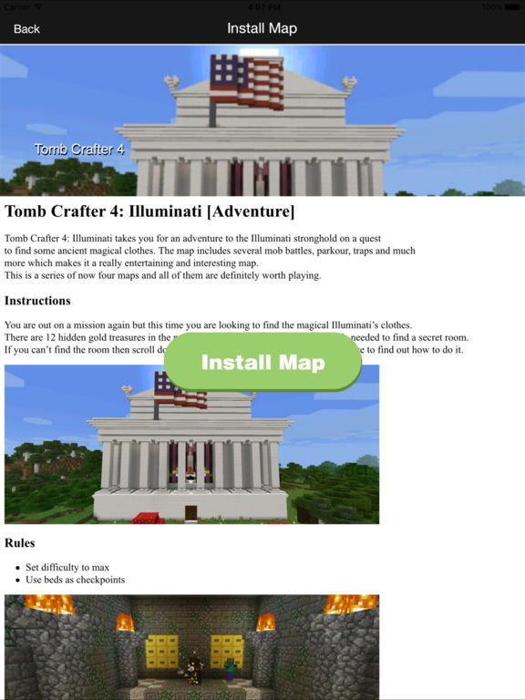 Best Maps for Minecraft PE - One Touch Install Screenshots