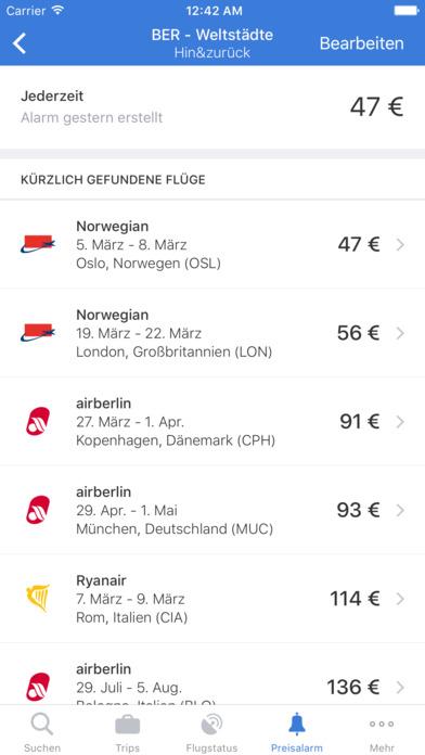 Flugsuche - für Urlaub und Geschäftsreisen iPhone Screenshot 5