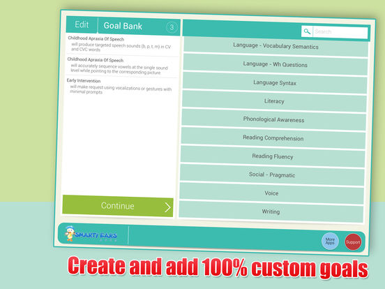 SLP Goal Bank iPad Screenshot 5