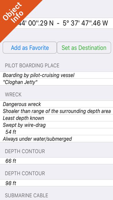 Marine: UK Ireland - GPS Map Navigator iPhone Screenshot 2