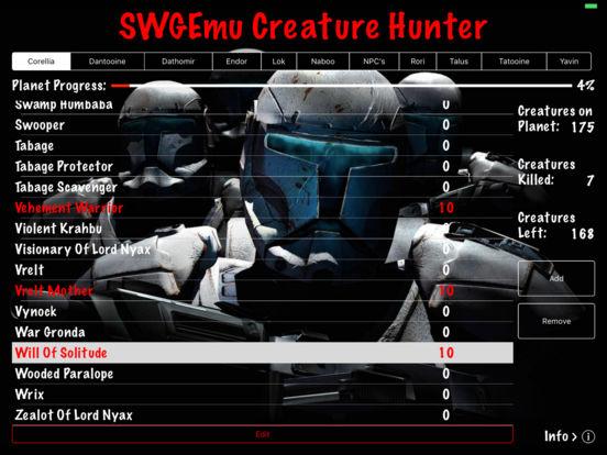 SWGEmu Creature Hunter iPad Screenshot 1