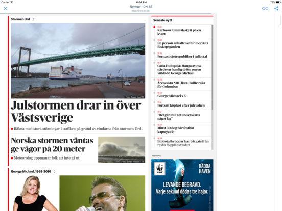 TIDNINGAR OCH TIDSKRIFTER iPad Screenshot 1